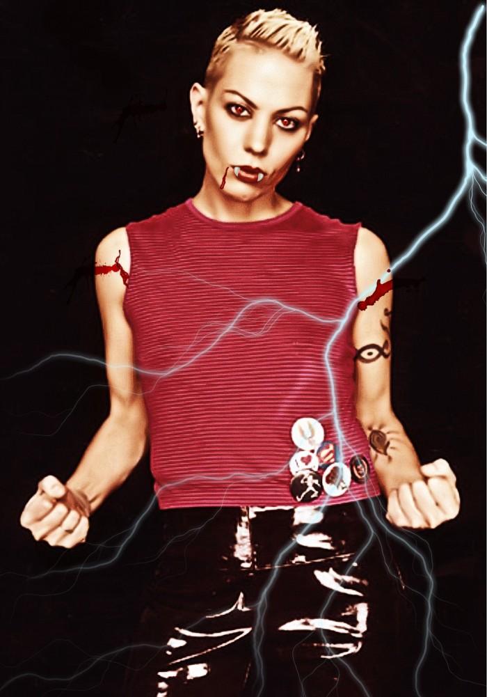 Joan Jett as a vampire, courtesy of Mikey Nichols