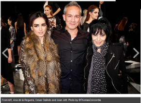 Joan Jett at the Cesar Galindo show Feb 9 (NY Fashion Week)