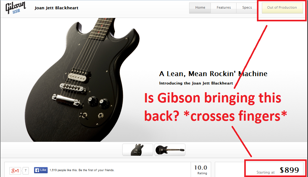 is gibson bringing back the blackheart melody maker born to be jetthead. Black Bedroom Furniture Sets. Home Design Ideas