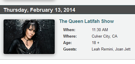 Queen Latifah Show Set 12 2010 set lis...