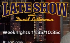 TV ALERT: JJBH on Letterman's Late Show
