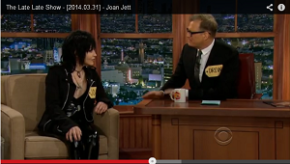 VIDEO: Joan Jett on Late Late Show with Drew Carey